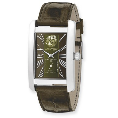 Buy Ed Hardy 1st Class Green & Brown Dial Watch