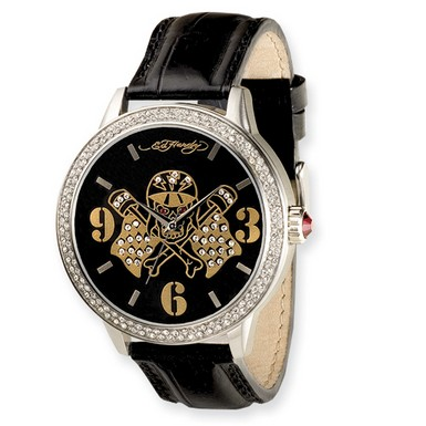 Ed Hardy Apollo/Skull Flags Watch