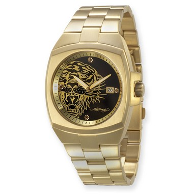 Buy Ed Hardy Kool Steel Gold Tiger Watch