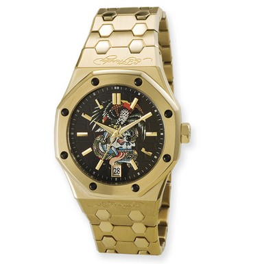 Buy Ed Hardy Industrial Eagle/Skull Watch