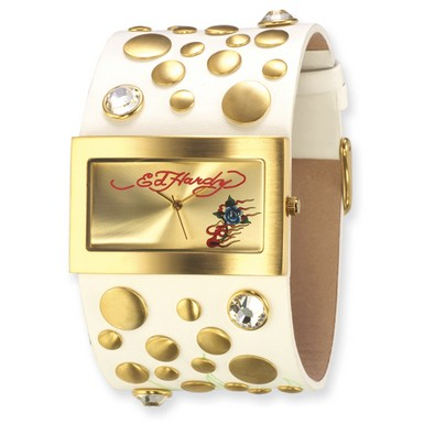 Buy Ed Hardy Love Child White Watch