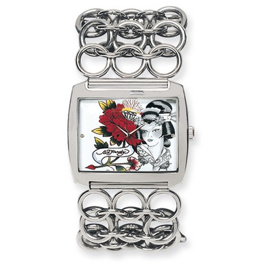 Ed Hardy Lynx Geisha Watch (Apples of Gold)