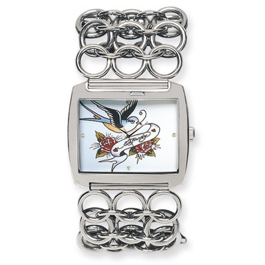 Ed Hardy Lynx Bluebird Watch (Apples of Gold)