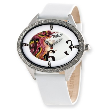 Buy Ed Hardy Show Girl White Watch
