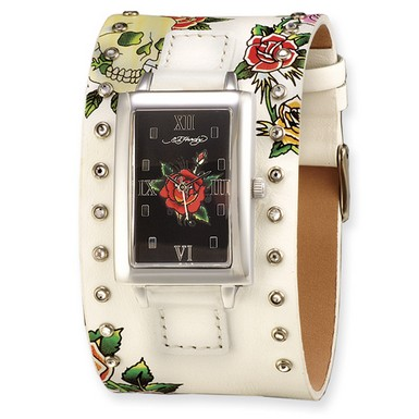 Ed Hardy Temptress White/Rose Watch (Apples of Gold)