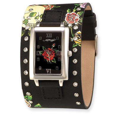 Buy Ed Hardy Temptress Black/Rose Watch
