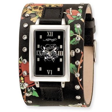 Buy Ed Hardy Temptress Black/Skull Watch.