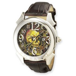 Ed Hardy Revolution Brown Watch