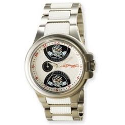 Ed Hardy Speeder White Watch