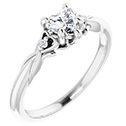 0.52 Carat Heart-Shaped Diamond Engagement Ring