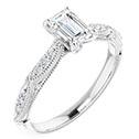 0.875 Carat GIA Certified Emerald-Cut Diamond Engagement Ring