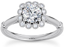 1.15 Carat Diamond 12-Stone Halo Engagement Ring