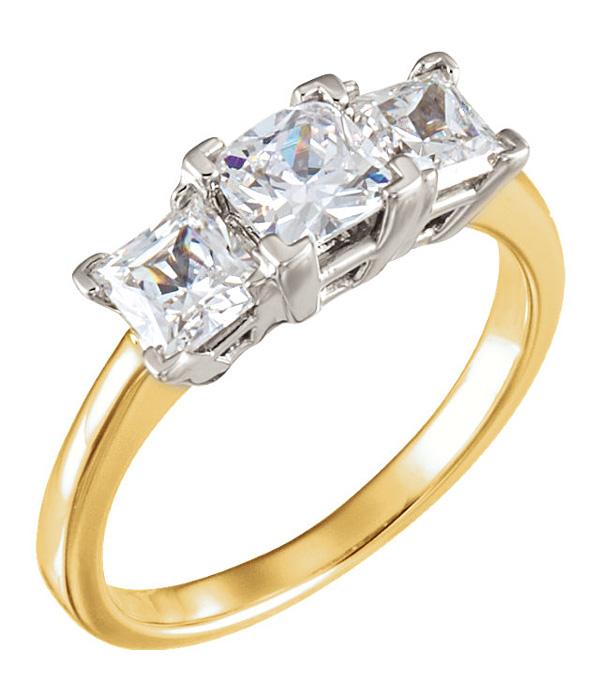 Engagement | Two-Tone | Diamond | Stone | Ring