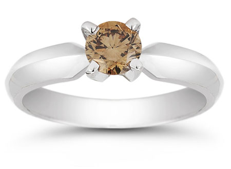 1/2 Carat Mocha Diamond Solitaire Engagement Ring