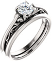 1/2 Carat Flourish Diamond Bridal Wedding Ring Set