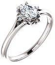 1/2 Carat Vintage-Inspired Oval Diamond Engagement Ring