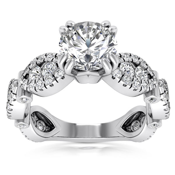 1.96 Carat Designer Wear Diamond Engagement Ring