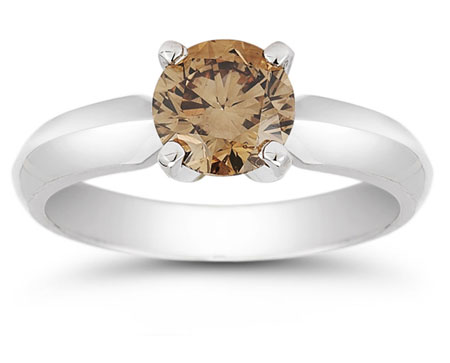1 Carat Mocha Diamond Solitaire Engagement Ring