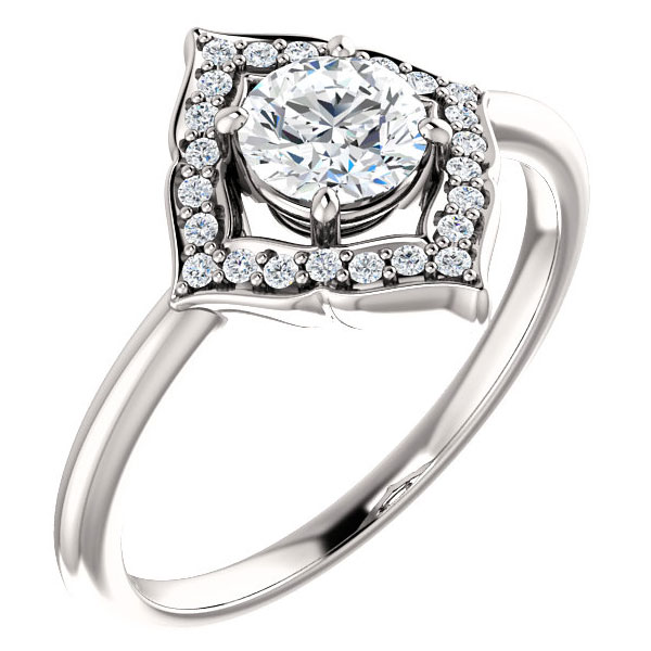 3/4 carat fashionable diamond halo ring