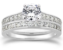 0.84 Carat Classic Diamond Engagement Set