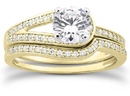 3/4 Carat Love's Embrace Carat Diamond Bridal Ring Set,14K Yellow Gold