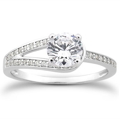 3/4 Carat Love's Embrace Diamond Engagement Ring