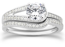 1 1/2 Carat Love's Embrace Diamond Bridal Ring Set