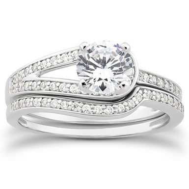 1.20 Carat Love's Embrace Diamond Bridal Ring Set