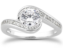 1 Carat Diamond Swirl Engagement Ring