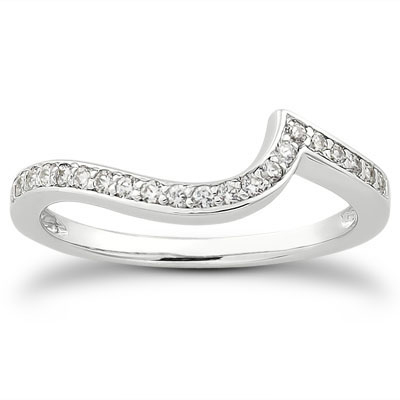 119 Carat Diamond Swirl Bridal Wedding Ring Set