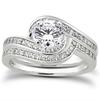 Diamond Swirl Bridal Wedding Ring Set