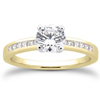 Round and Princess Cut Engagement Ring