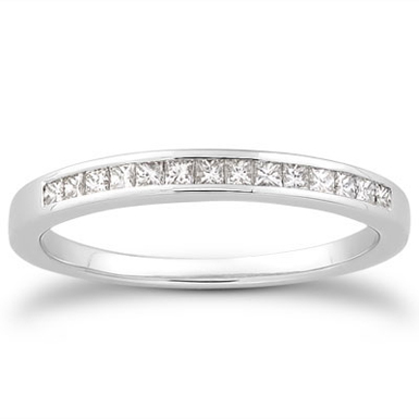 0.15 Carat Princess Cut Diamond Wedding Ring