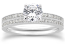 0.70 Carat Antique Style Diamond Engagement Set