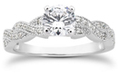 1 Carat Diamond Twist Engagement Ring
