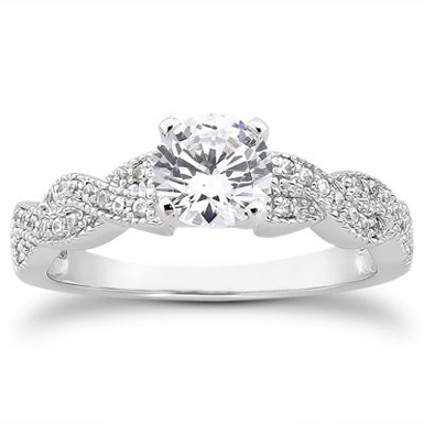 1 Carat Diamond Twist Engagement Ring
