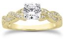 3/4 Carat Diamond Twist Engagement Ring, 14K Yellow Gold