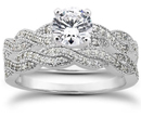 1.29 Carat Diamond Bridal Wedding Set
