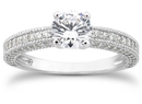 1 1/4 Carat Antique Style Diamond Engagement Ring