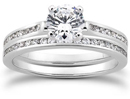3/4 Carat Round Cut Diamond Engagement Set