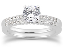 1.67 Carat Diamond Petite Bridal Set