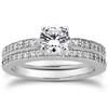 Antique Style Bridal Wedding Ring set