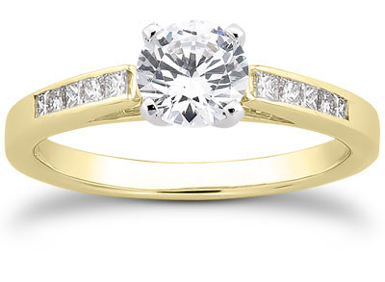 1/2 Carat Classic Diamond Engagement Ring, 14K Yellow Gold