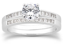 0.66 Carat Classic Diamond Bridal Ring Set