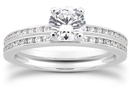 0.89 Carat Channel Set Diamond Bridal Set