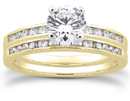 1 Carat Diamond Traditional Wedding and Engagement Ring Set, 14K Yellow Gold