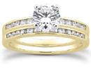 3/4 Carat Diamond Traditional Wedding and Engagement Ring Set, 14K Yellow Gold