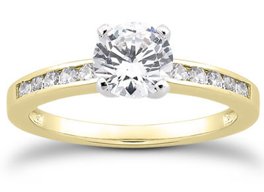 1/2 Carat Diamond Traditional Engagement Ring, 14K Yellow Gold