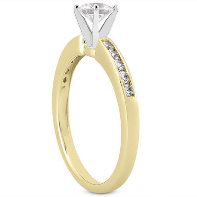 ... Solitaire with Accents Carat Diamond Engagement Ring - View 5 ...