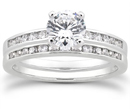 1 Carat Diamond Traditional Wedding and Engagement Ring Set